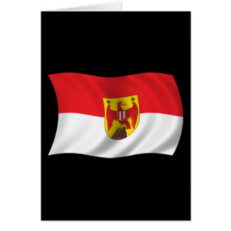 Wavy Burgenland Flag Greeting Card