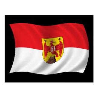 Wavy Burgenland Flag Post Card