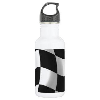 Wavy chequered flag 532 ml water bottle