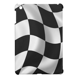 Wavy chequered flag case for iPad mini