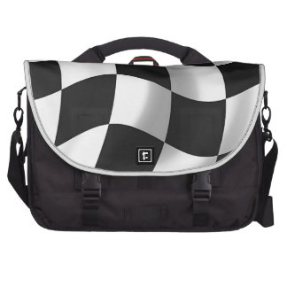 Wavy chequered flag laptop computer bag