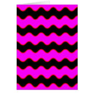 Wavy Chevron Zig Zag Stripes Greeting Card