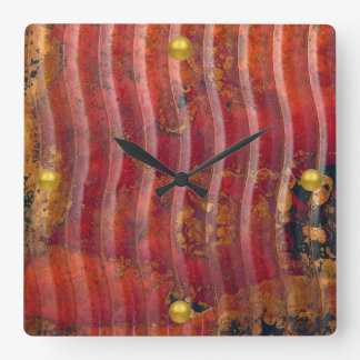 Wavy Copper Wall Clocks
