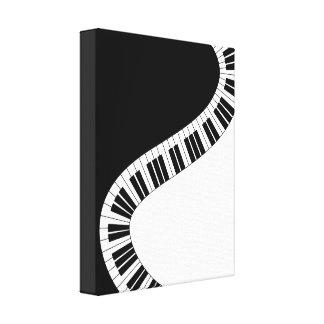 Wavy Curved Piano Keys Canvas Prints
