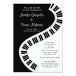 Wavy Curved Piano Keys Wedding 13 Cm X 18 Cm Invitation Card