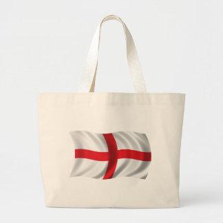 Wavy England Flag Jumbo Tote Bag