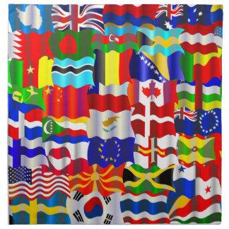 Wavy Flag Wallpaper Montage Napkin