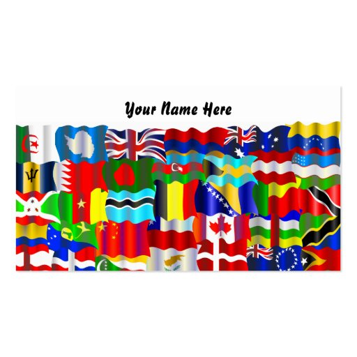 Wavy Flag Wallpaper, Your Name Here Business Card