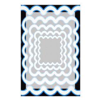 Wavy Frames Stationery Paper