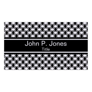 Wavy Gray and Black Pattern Business Card