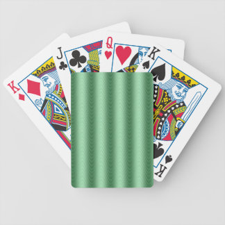 Wavy Green Stripes Modern Design Bicycle Playing Cards