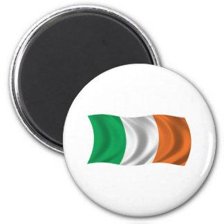 Wavy Ireland Flag 6 Cm Round Magnet