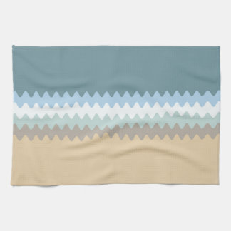 Wavy Lined Six Color Combo Tea Towel