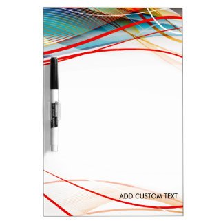 Wavy Lines Modern Science and Technology Custom Dry Erase White Board