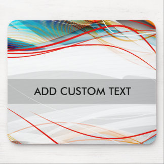 Wavy Lines Modern Science and Technology Custom Mouse Pad