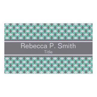 Wavy Lucite Green and Gray Pattern Business Card