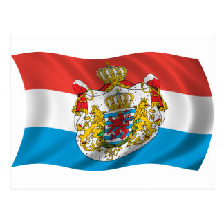 Wavy Luxembourg Flag Postcard