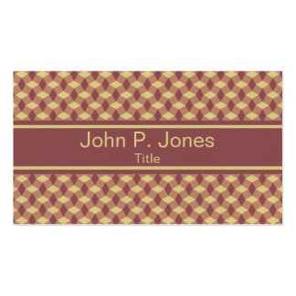 Wavy Marsala Brown Pattern Business Card