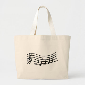 Wavy Music scale and notes bag