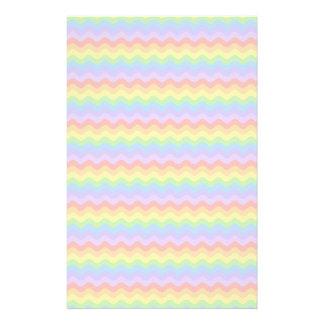 Wavy Pastel Rainbow Stripes Stationery