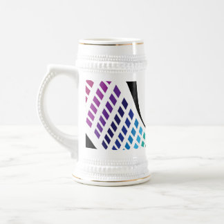 Wavy Rainbow Squares Abstract Layout Coffee Mugs