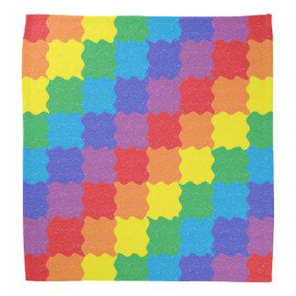 Wavy Rainbow Squares Bandana