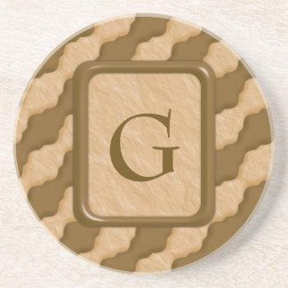 Wavy Ripples - Chocolate Peanut Butter Drink Coaster