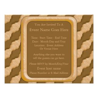 Wavy Ripples - Chocolate Peanut Butter Custom Invitation