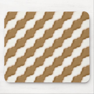 Wavy Ripples - Milk Chocolate and White Chocolate Mouse Pad