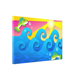 Wavy Sea Canvas Print