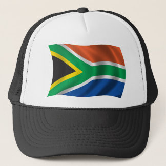Wavy South Africa Flag Trucker Hat