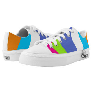 Wavy Stipes With Multi-color Splotched Shoes Printed Shoes