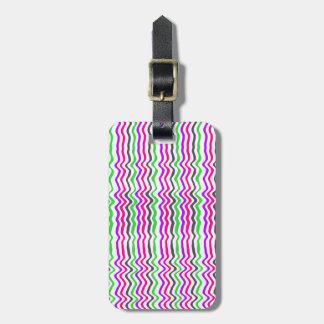Wavy Stripe 2014 Luggage Tag