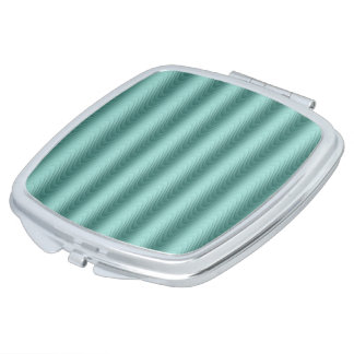 Wavy Teal Abstract Pattern Mirror For Makeup
