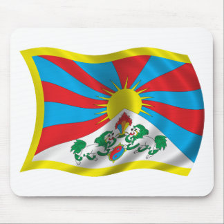 Wavy Tibet Flag Mouse Pad