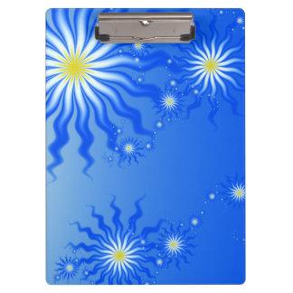 Wavy Tropical Sun Clipboard