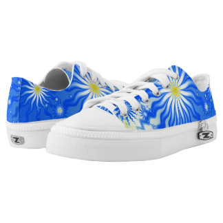 Wavy Tropical Sun Shoes Printed Shoes