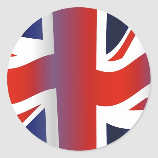 Wavy UK Classic Round Sticker