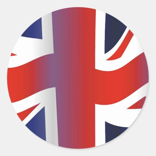 Wavy UK Round Sticker