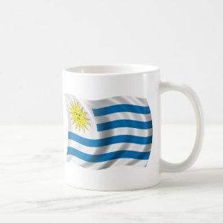 Wavy Uruguay Flag Basic White Mug