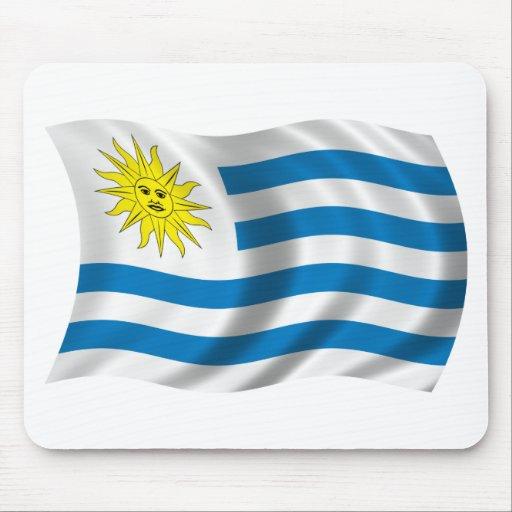 Wavy Uruguay Flag Mouse Pad