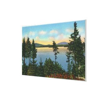 Wawbeek Club View of Upper Saranac Lake Canvas Print