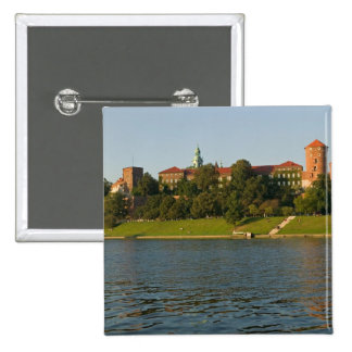 Wawel Hill with Royal Castle and Cathedral, 15 Cm Square Badge