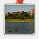 Wawel Hill with Royal Castle and Cathedral, Silver-Colored Square Decoration