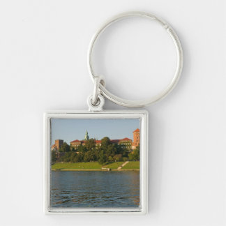 Wawel Hill with Royal Castle and Cathedral, Silver-Colored Square Key Ring
