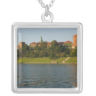 Wawel Hill with Royal Castle and Cathedral, Square Pendant Necklace