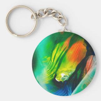 Wax Art Feb 01 Basic Round Button Key Ring