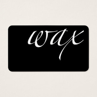Wax: Brazilian Wax Business Card