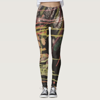 wax on canvas print leggings