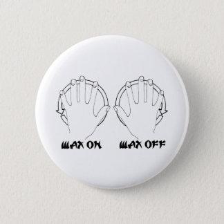 wax on karate 6 cm round badge